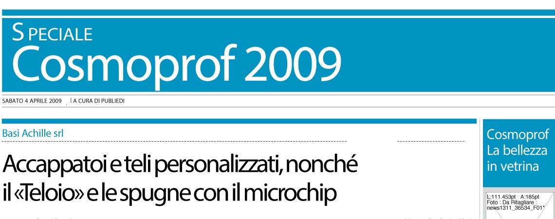 16377297d6 Cosmoprof '09 Basi Achille