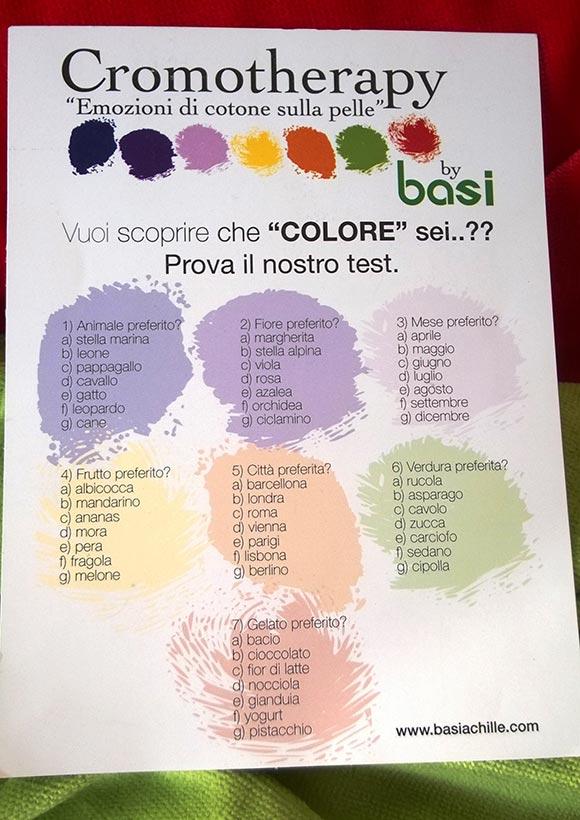 Test per scoprire di quale colore sei