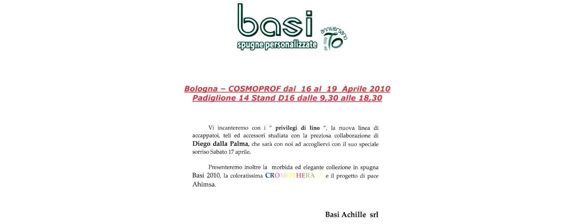 117d988498 Invito Cosmoprof 2010 Basi Achille