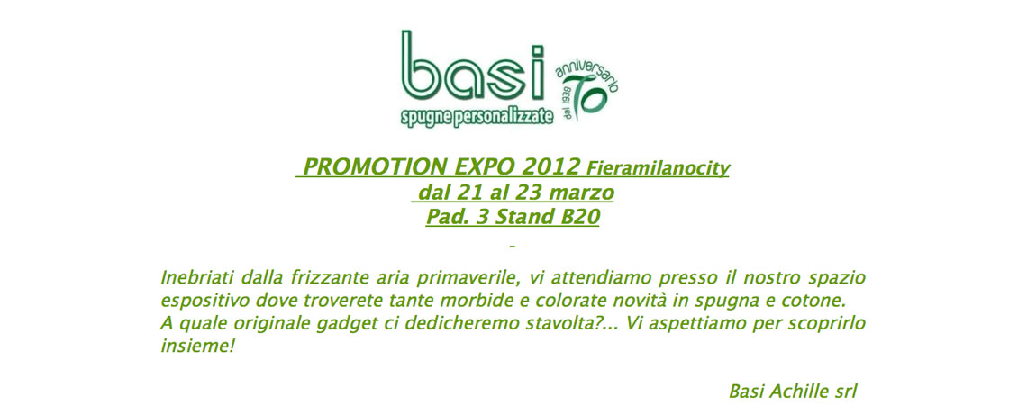 523f0d739f Promotion expo 2012 Basi Achille